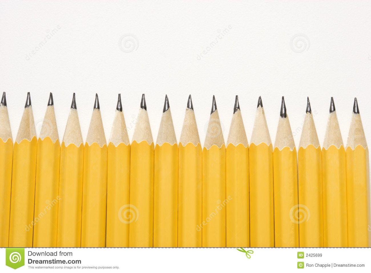Row Of Pencils. Royalty Free Stock Images - Image: 2425699