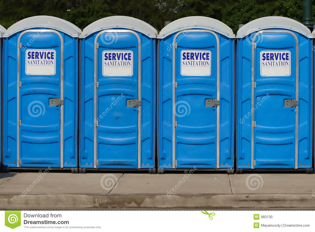 Portable Bathroom Toilets Stock Image Image 17919211