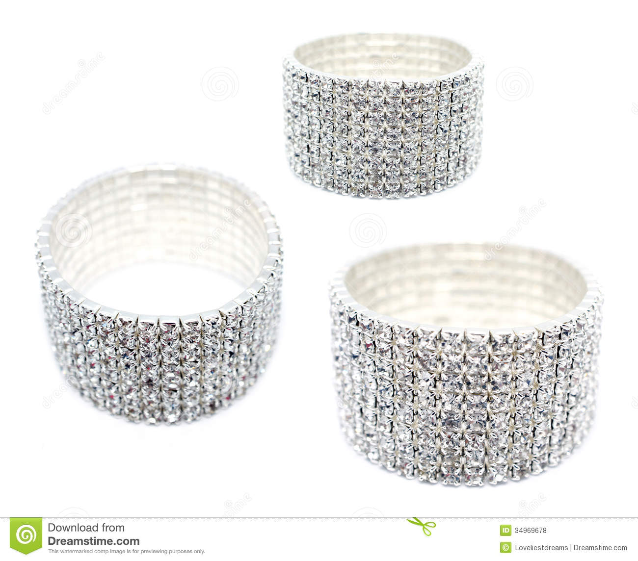 8 row rhinestone cuff bracelet stock photo image of glitter cubic