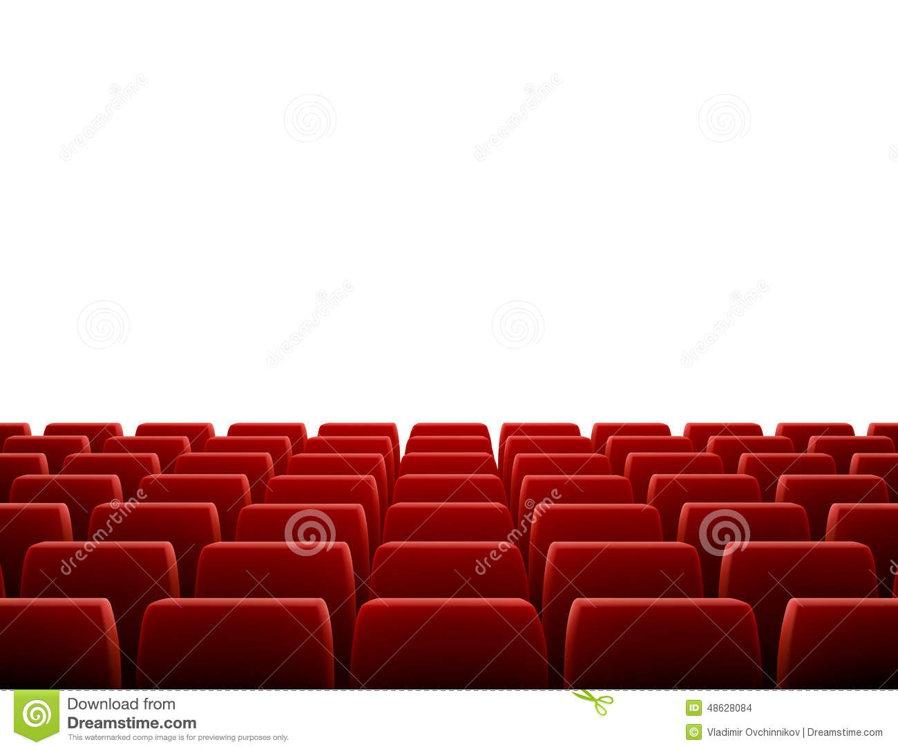 Row of seats in theatre stock vector illustration of movie 48628084 download comp freerunsca Gallery