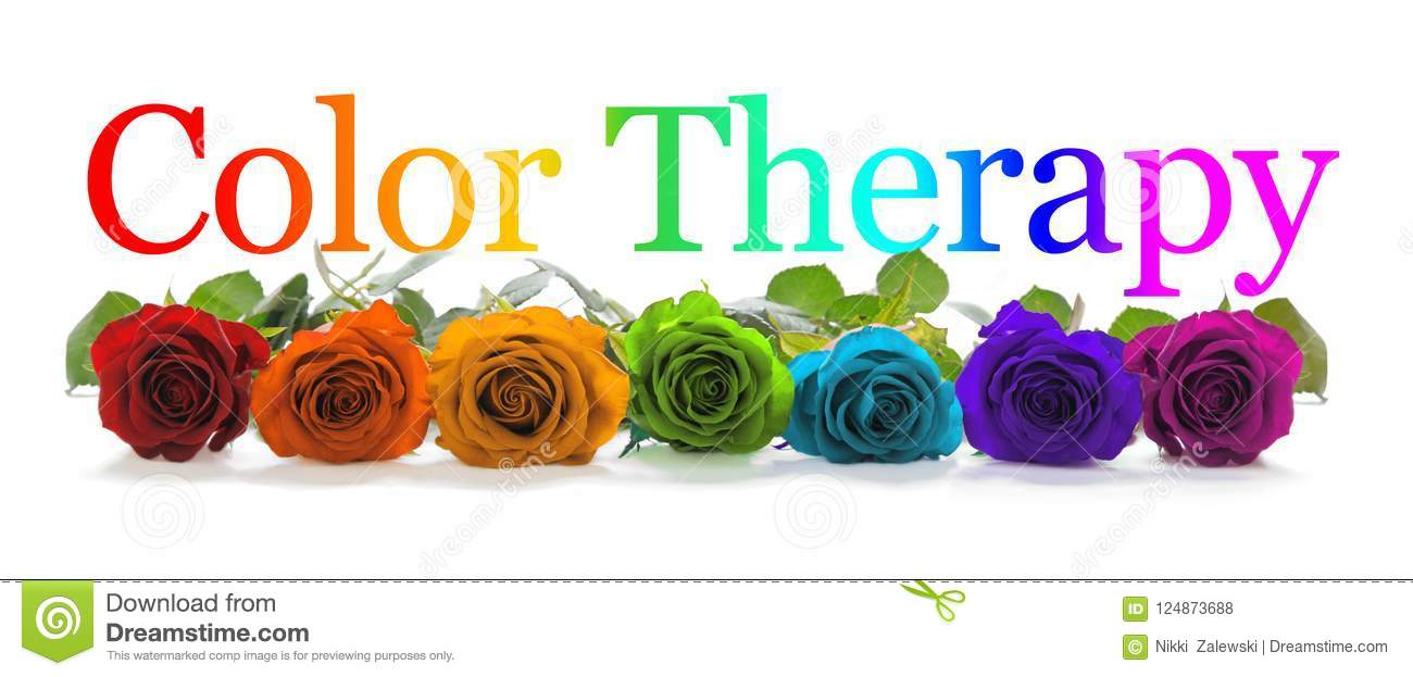 Color Healing Therapy Rose Banner