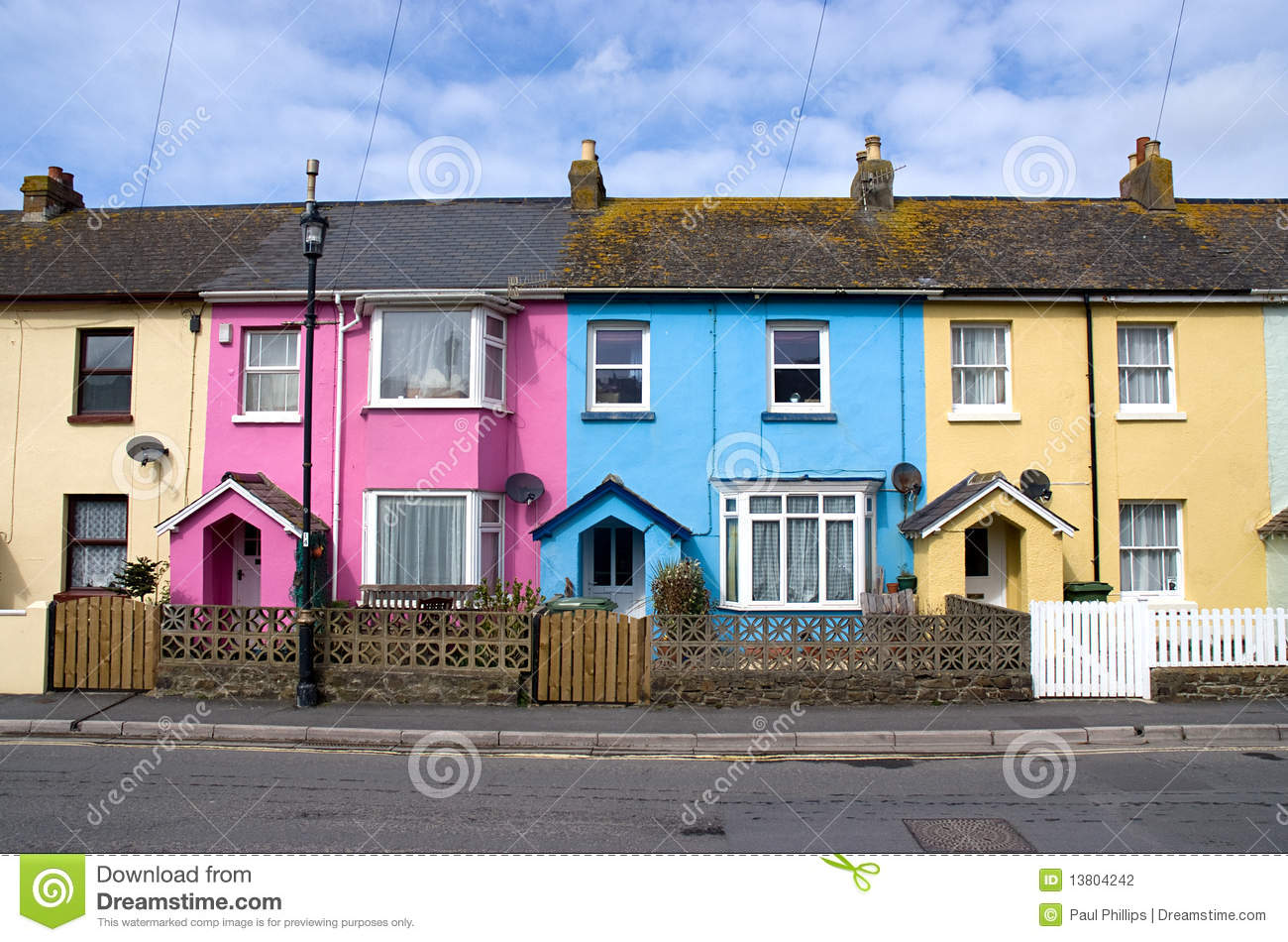Row Of Small Houses Stock Photography Image 13804242