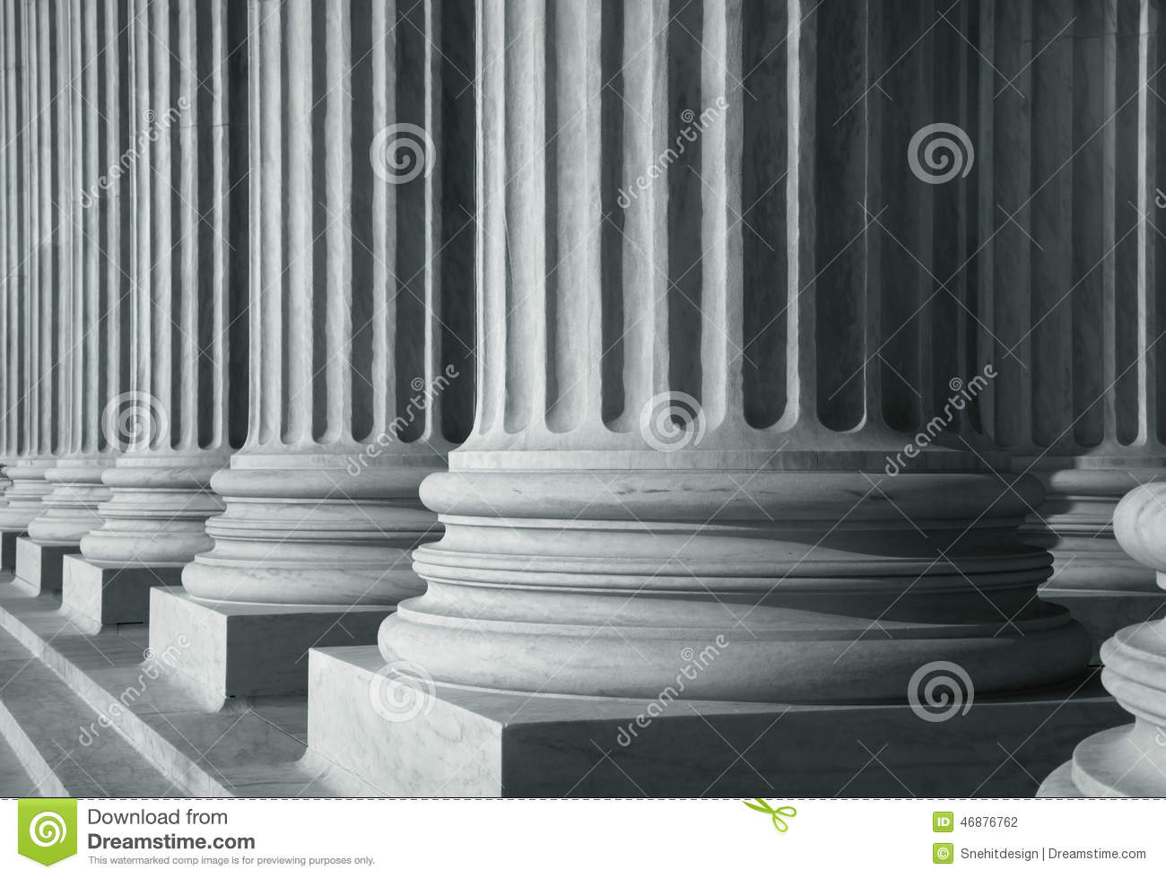 Row of tall pillars