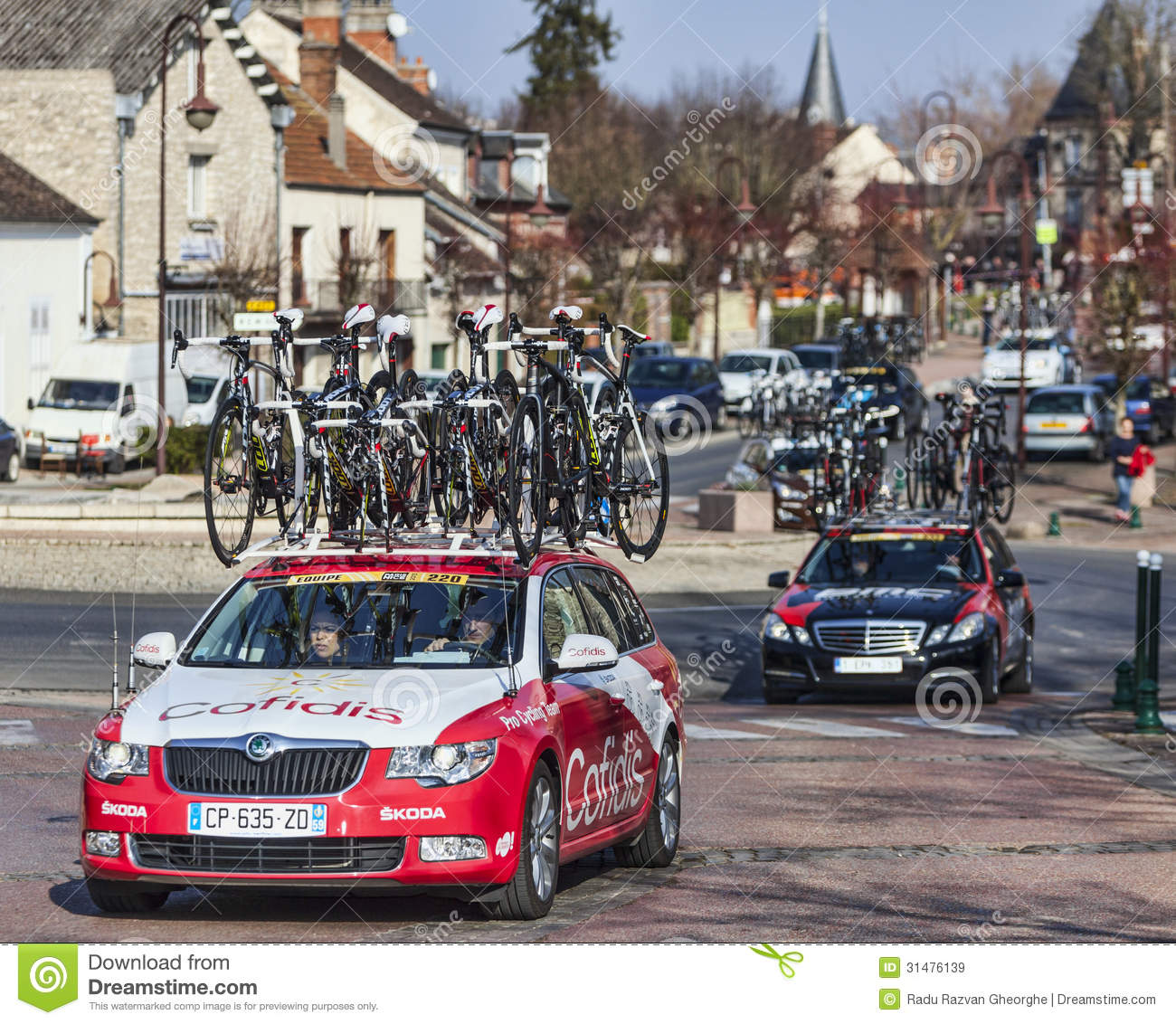 row of technical teams cars paris nice 2013 editorial stock image image 31476139. Black Bedroom Furniture Sets. Home Design Ideas