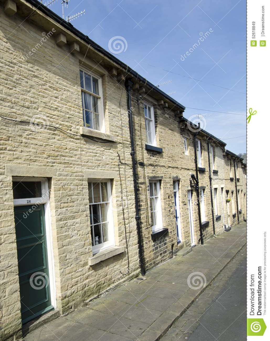 Row of Terraced Houses - Yorkshire Stone Street
