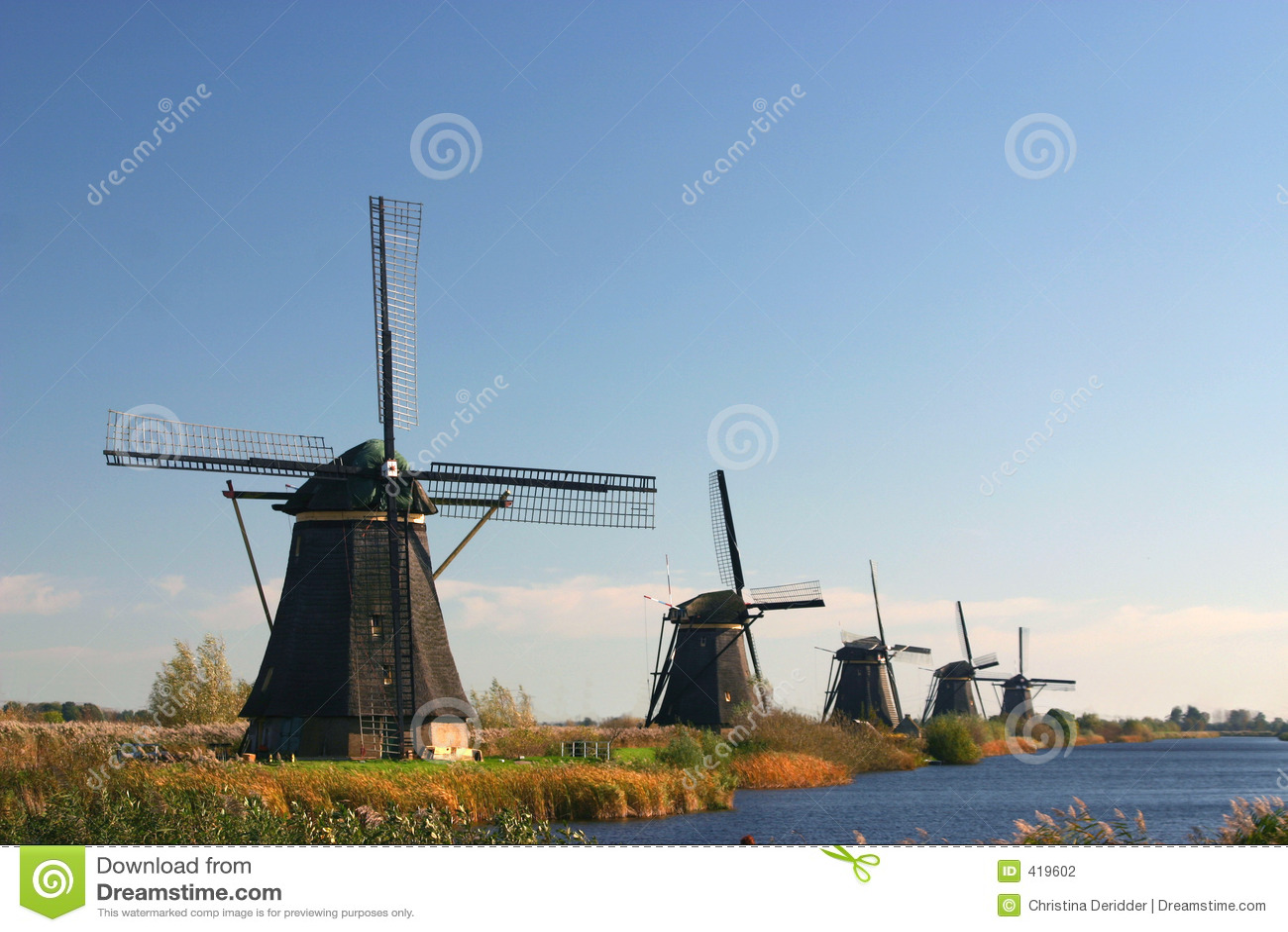 A row of Windmills