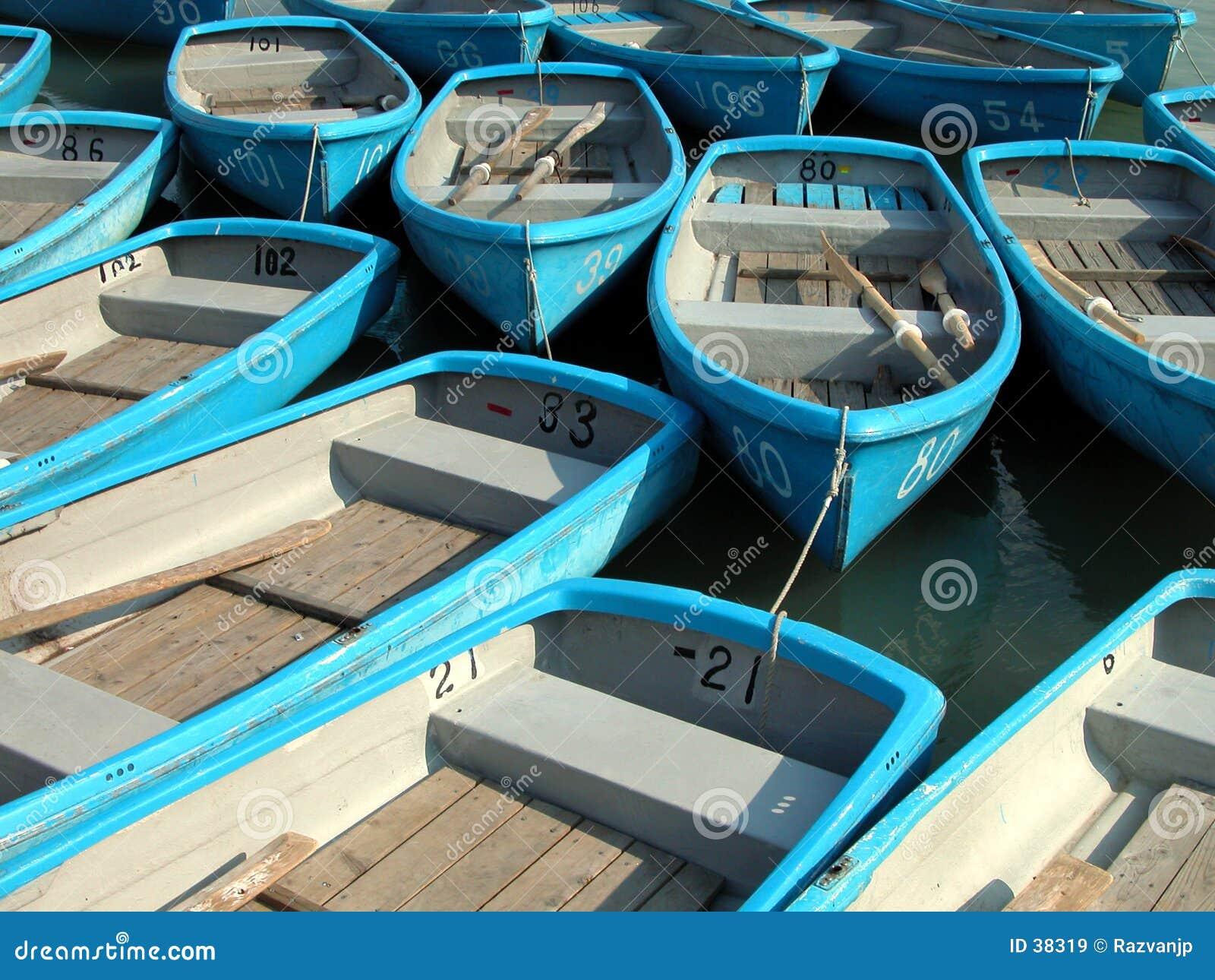 Rowboats małe niebieskie