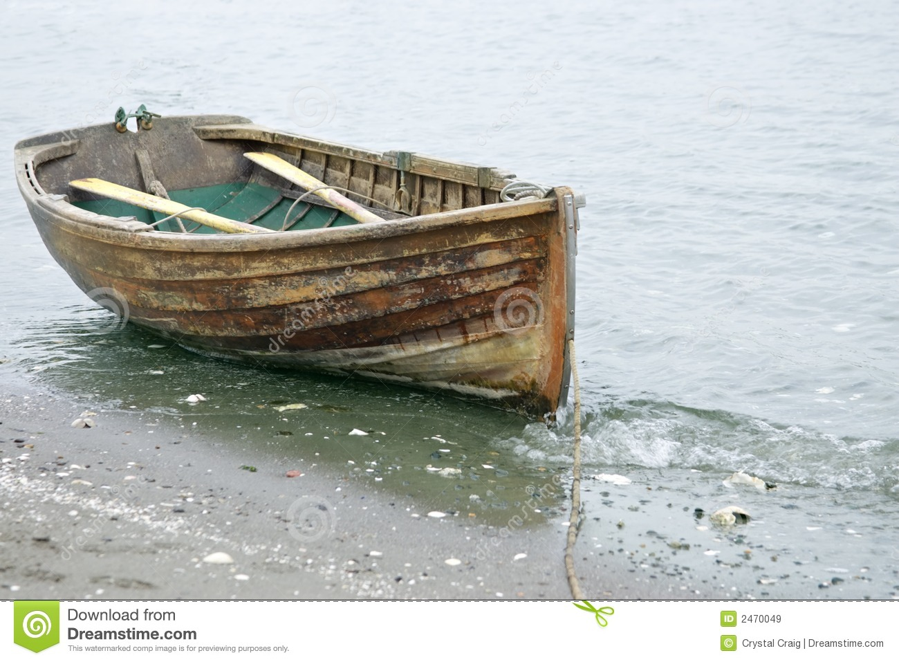 Rowed To Shore Royalty Free Stock Images - Image: 2470049