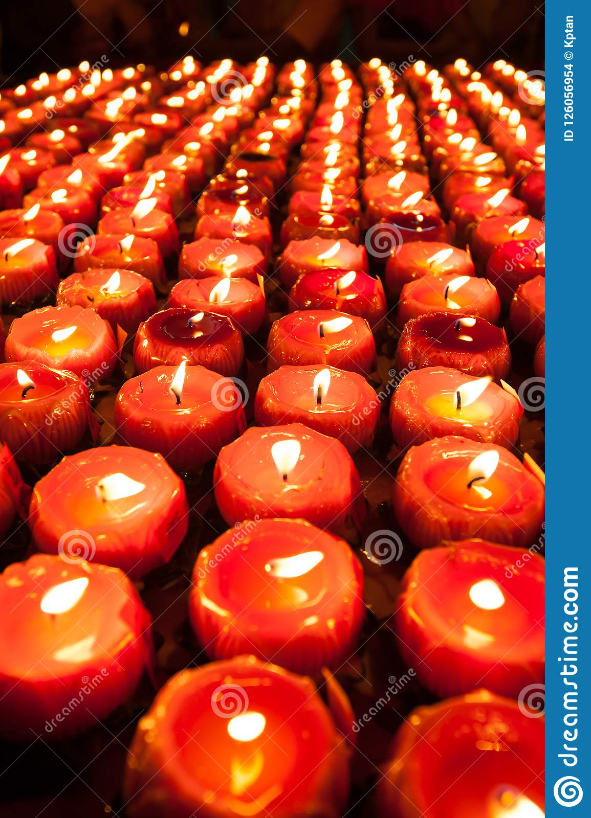 Lotus candles stock photo. Image of flower, religion ...