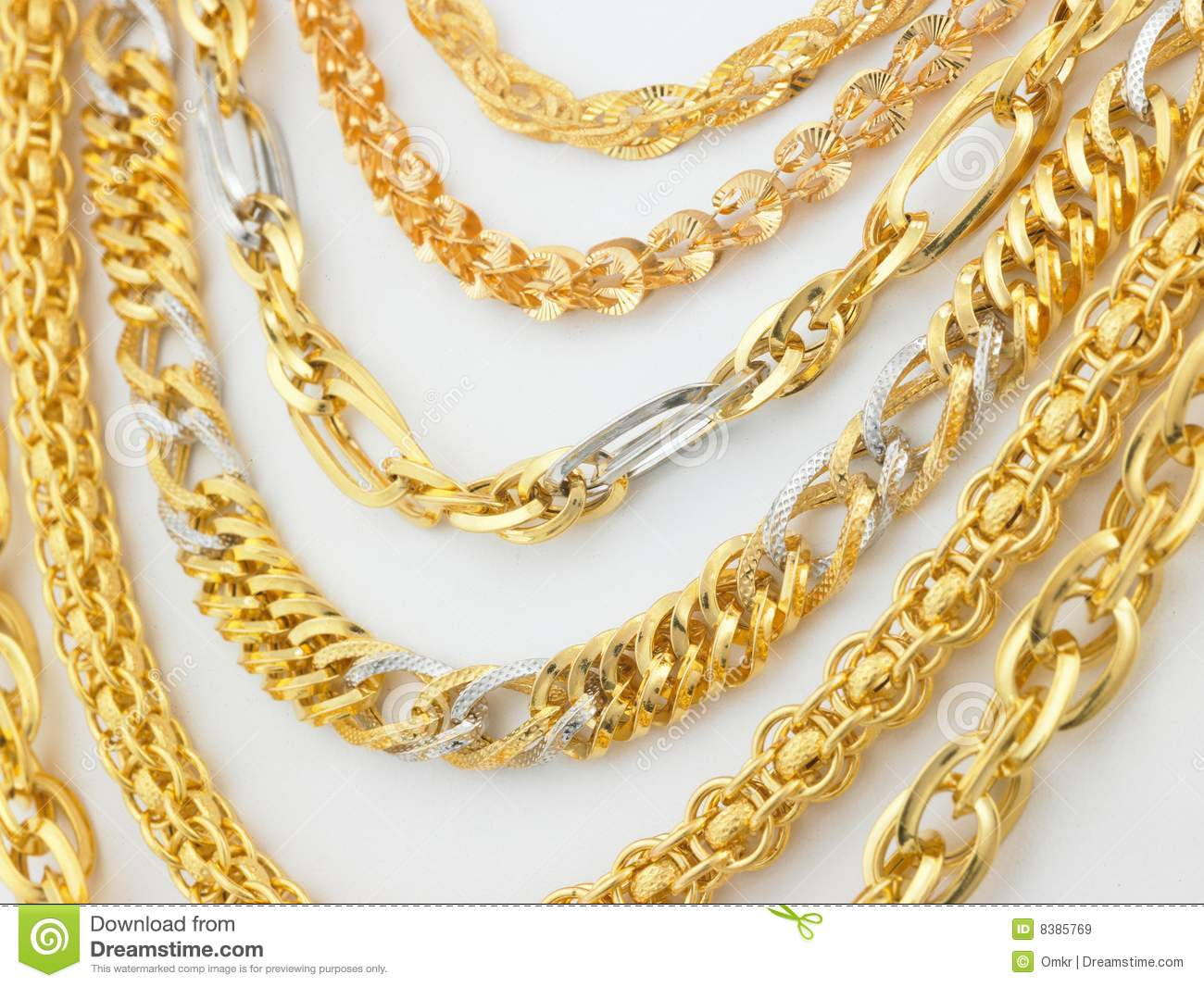 chains collections gold