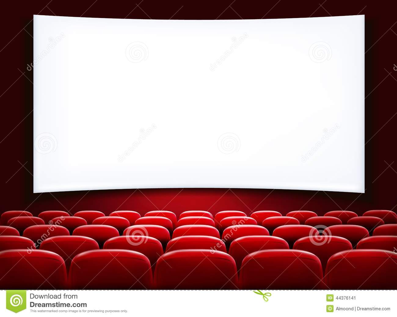 House Design Free Download Rows Of Red Cinema Or Theater Seats Stock Vector Image