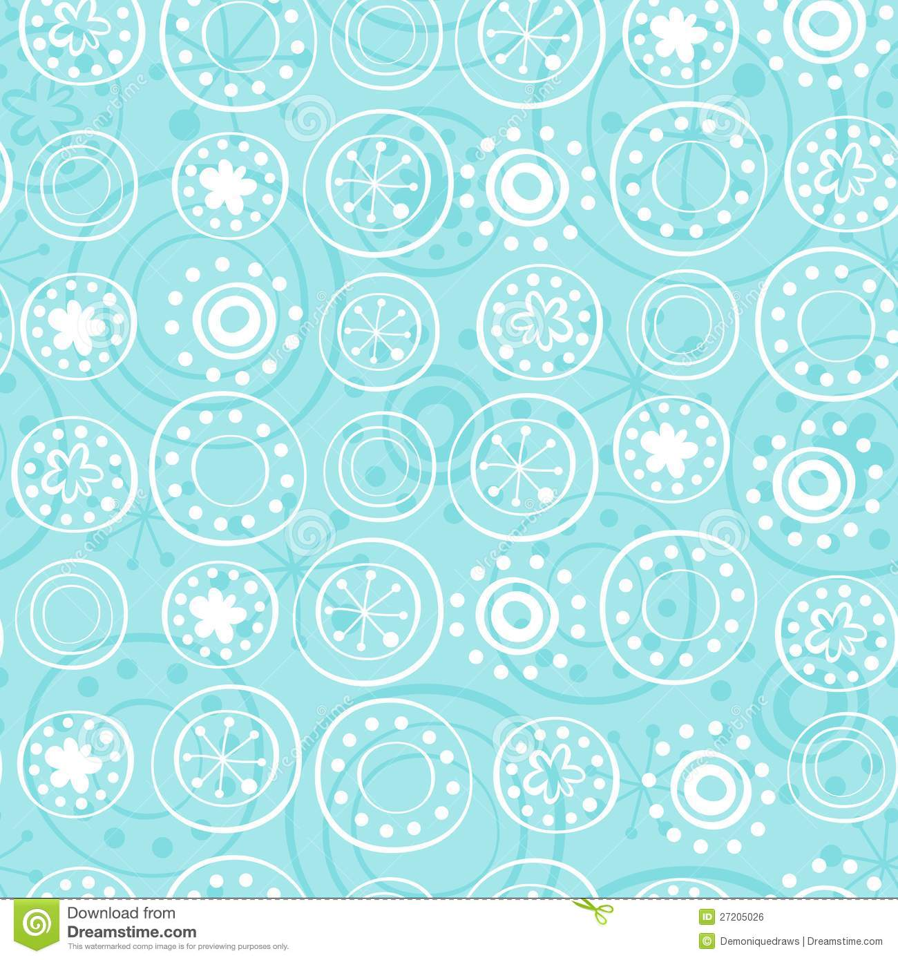 Royalty Free Stock Image: Rows of snowflakes on baby blue. Image ...