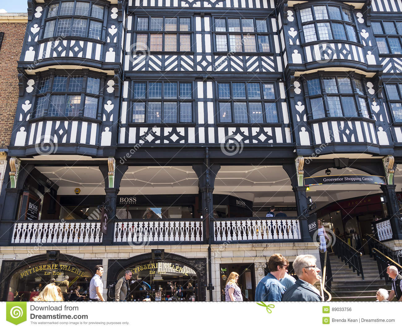The Rows are Tudor Black and White Buildings in Chester England