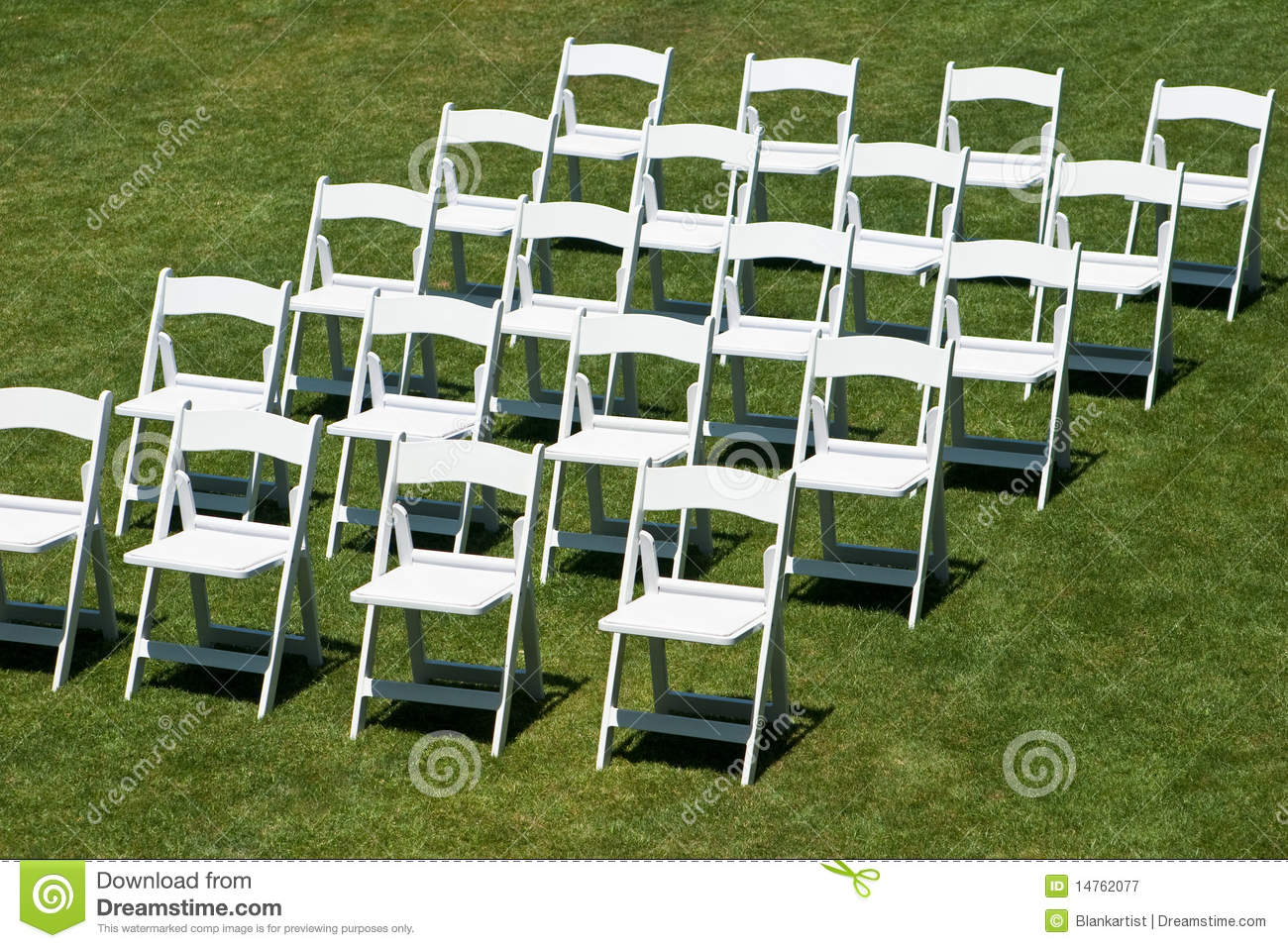 Rows Of White Wedding Chairs Royalty Free Stock ...