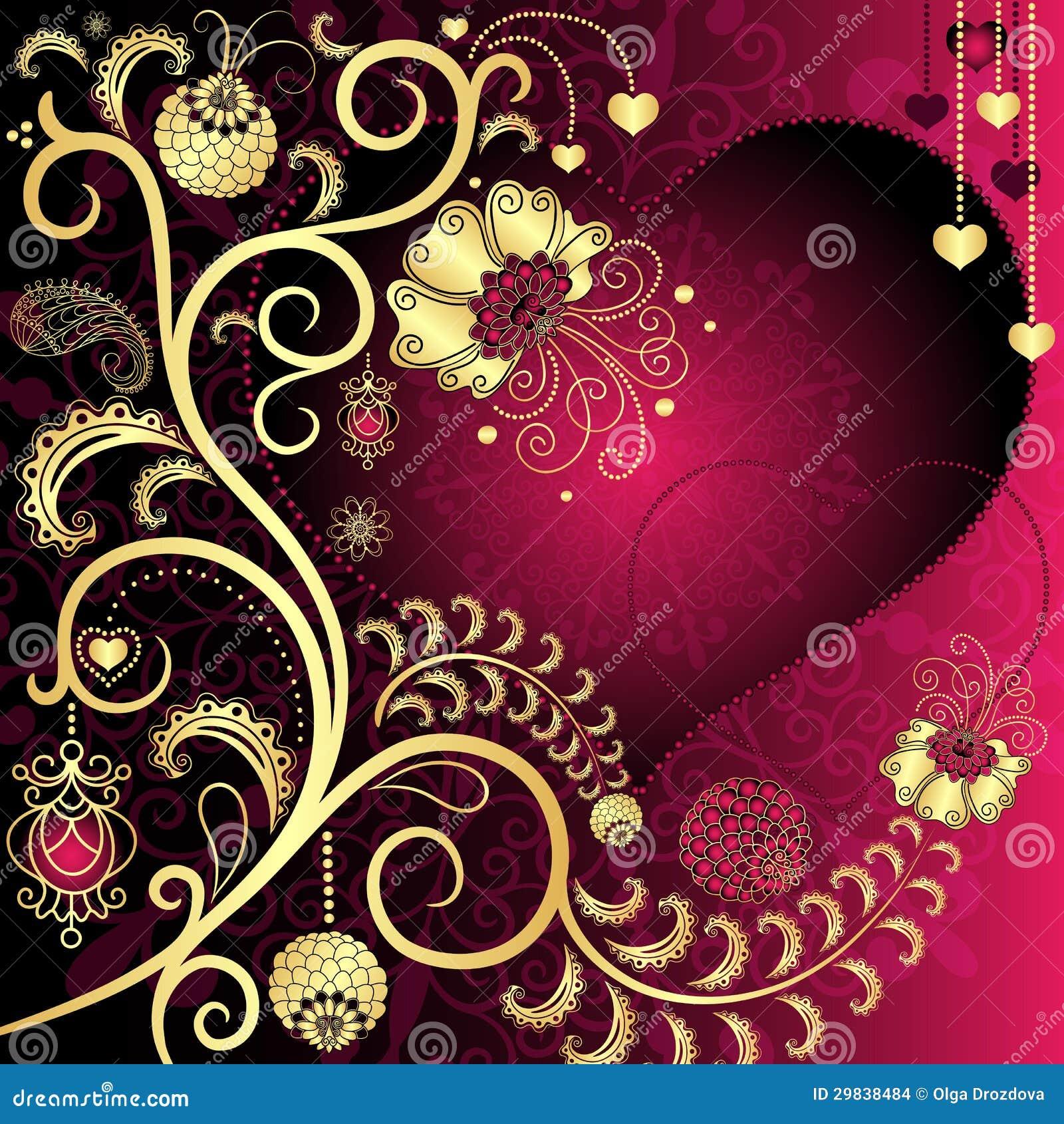 Cartão do Valentim do vintage