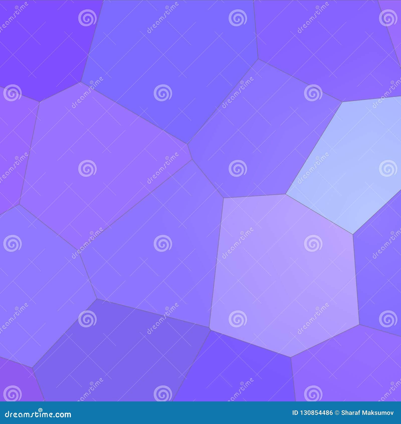 Roxo e hexágono gigante colorido azul na ilustração quadrada do fundo da forma