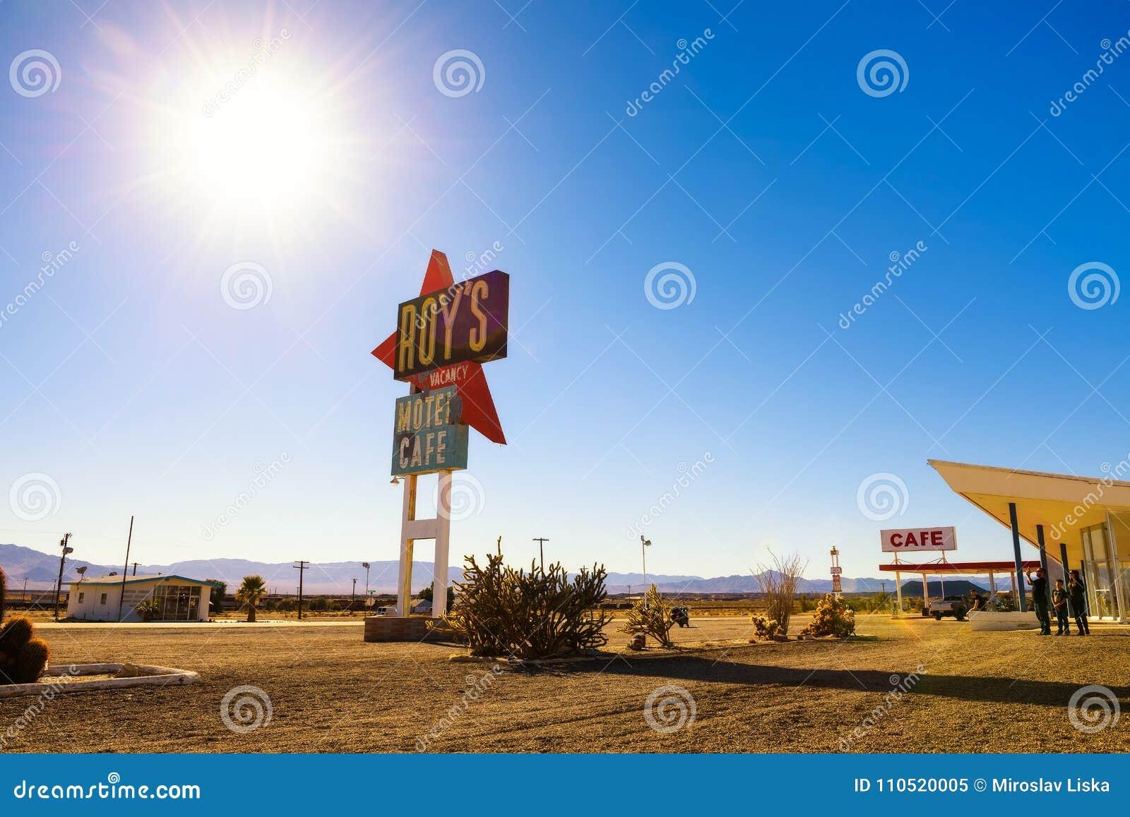 Roy-` s Motel und Café auf historischem Route 66