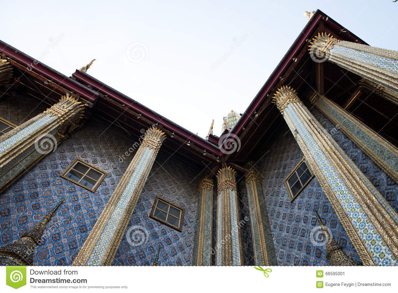 Royal Architecture Of Siamese Palace Stock Image - Image of golden ...