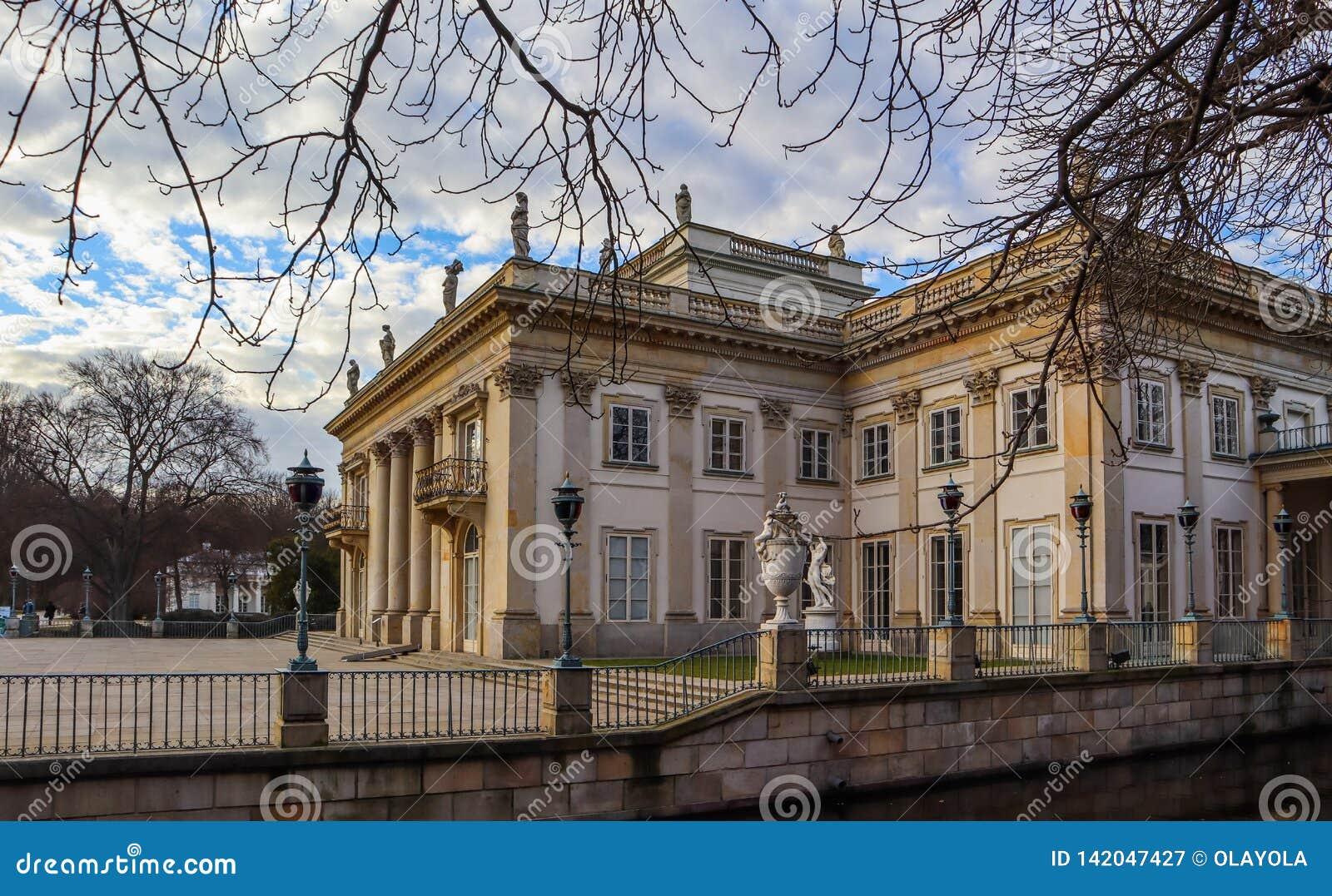 Royal Baths Park Lazienki Park In Spring Warsaw Poland