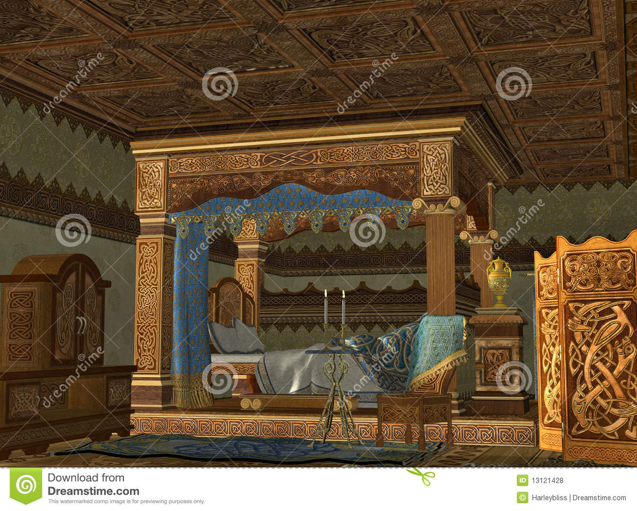 The Royal Bed Chamber Stock Illustration Illustration Of