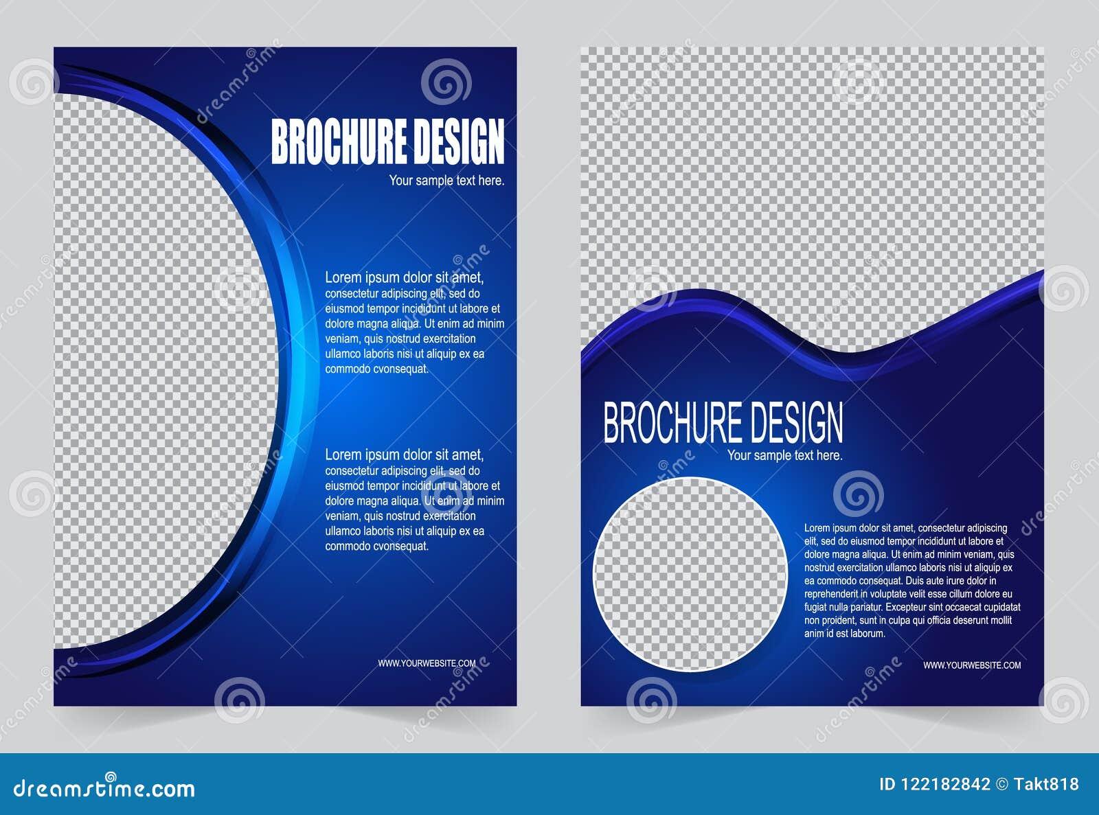 Royal Blue Brochure Template Flyer Design Stock Vector Illustration Of Background Promotion 122182842