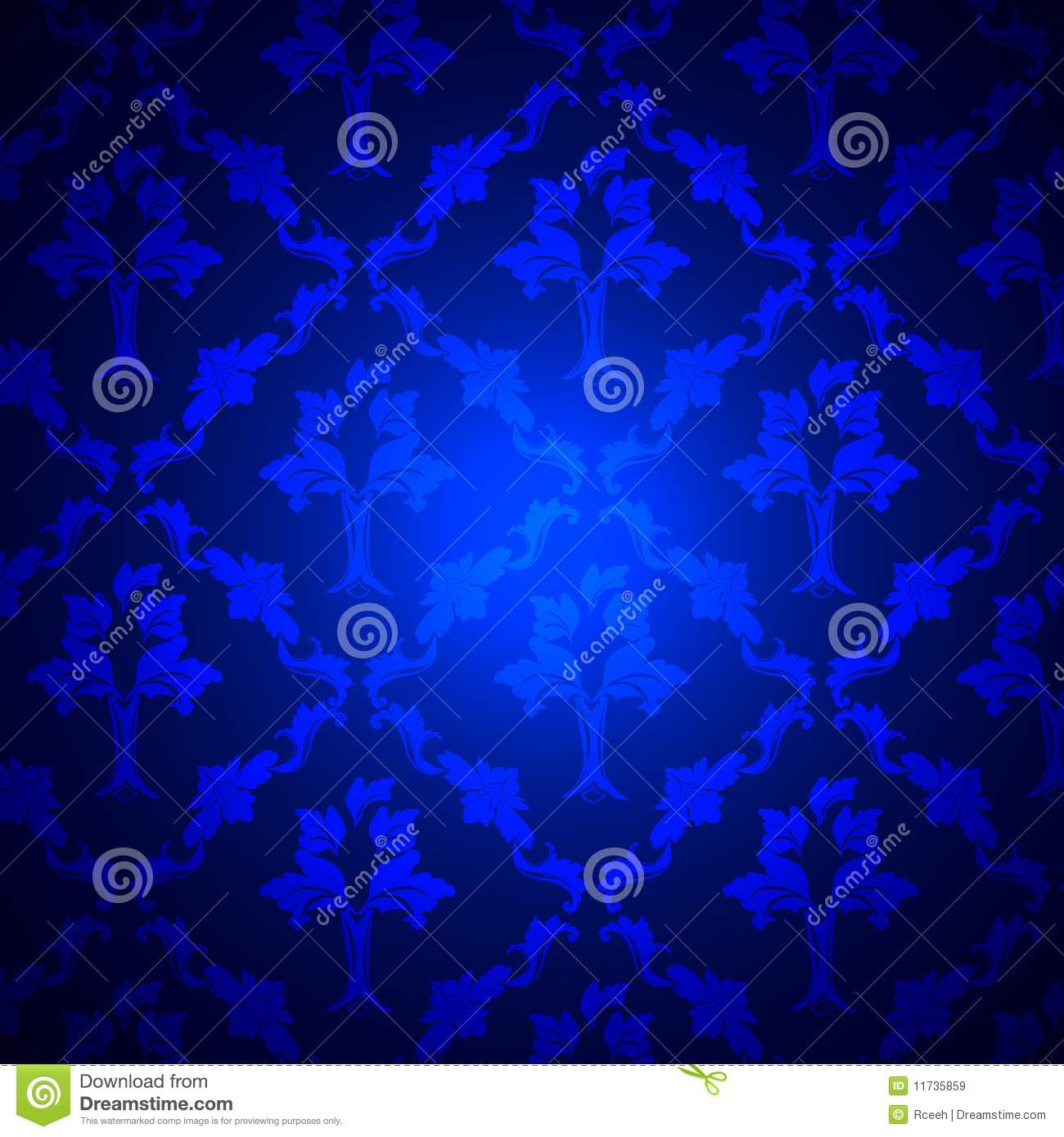 Texture background of seamless damask blue wallpaper stock photo - Royal Blue Damask Royalty Free Stock Images Image 11735859