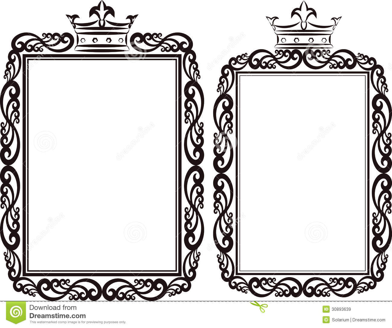 royal border stock vector illustration of contour crowns 30893639 rh dreamstime com