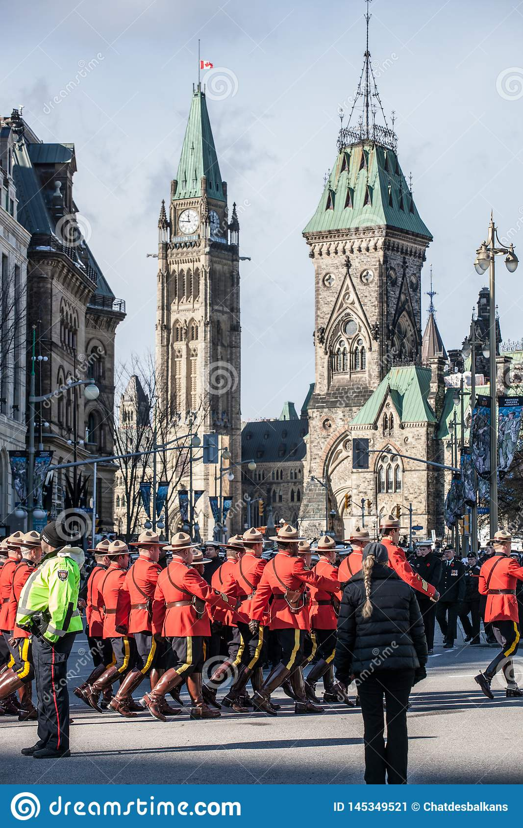 Royal Canadian Mounted Police RCMP, Mounties, i den formella r