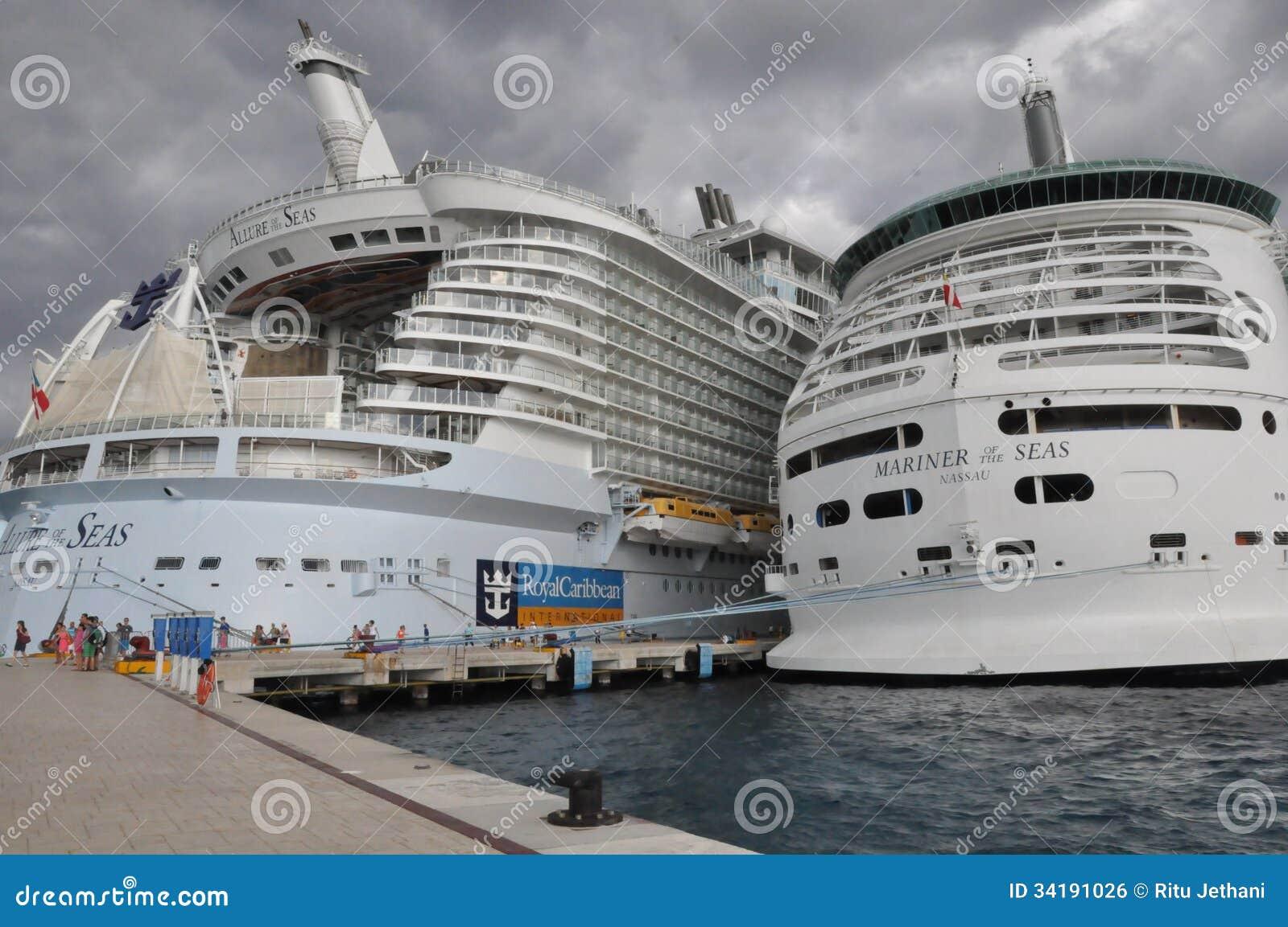Royal Caribbean's Allure Of The Seas & Mariner Of The Seas ... Oasis Of The Seas Comparison