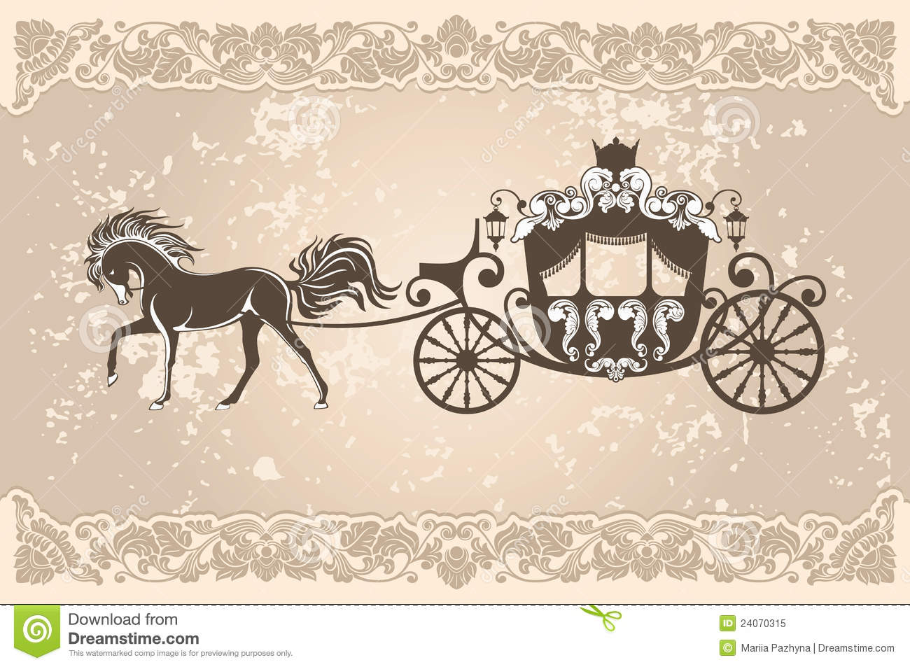 Royal carriage stock vector. Image of design, luxury ...