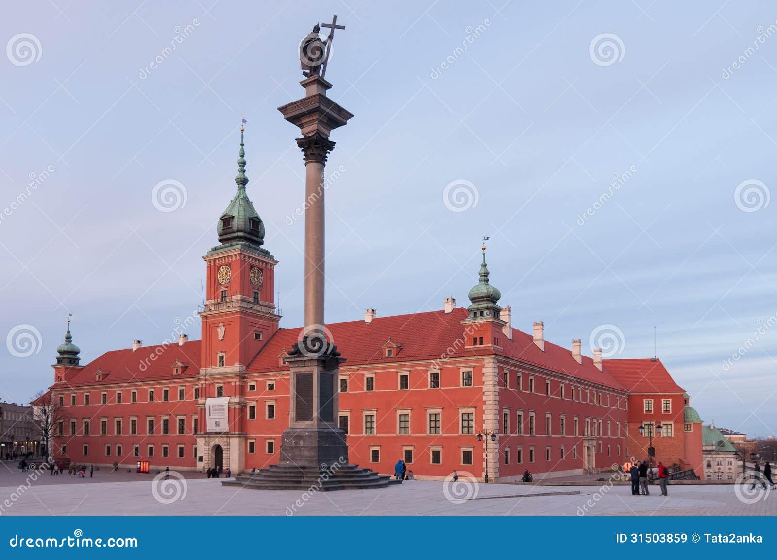 Royal Castle in Warsaw and Sigismund s Column, Poland