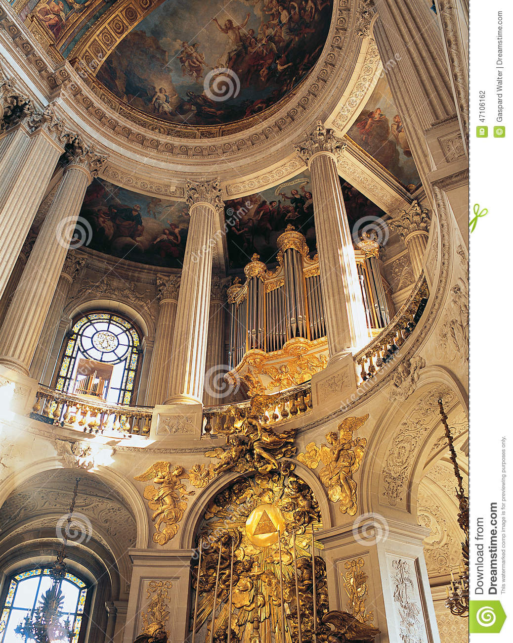 Royal Chapel Versailles Palace France Stock Photo Image Of
