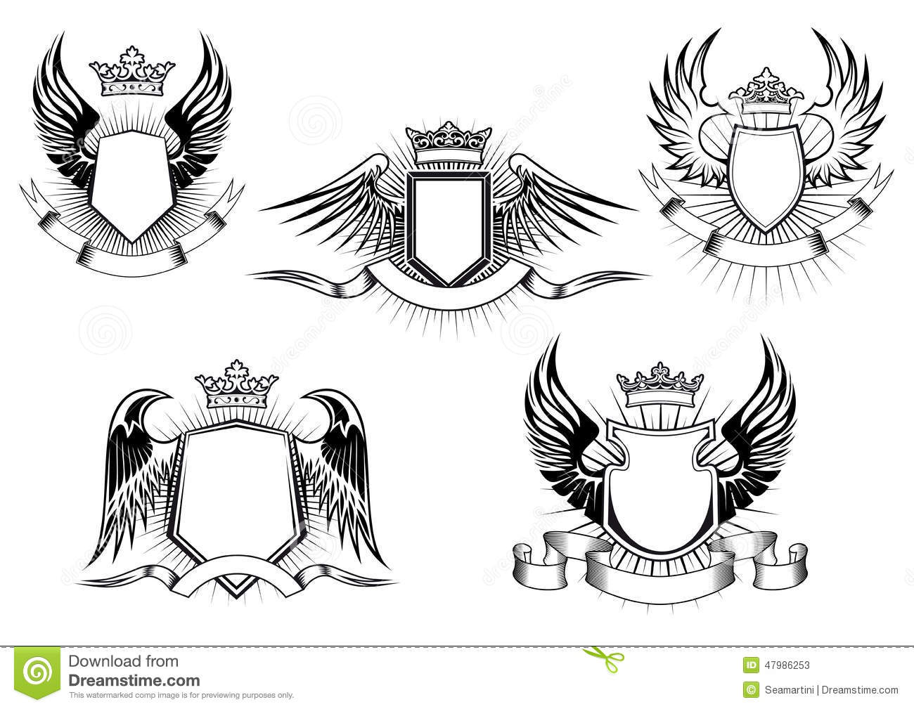 coat of arms knight shield templates stock vector illustration of
