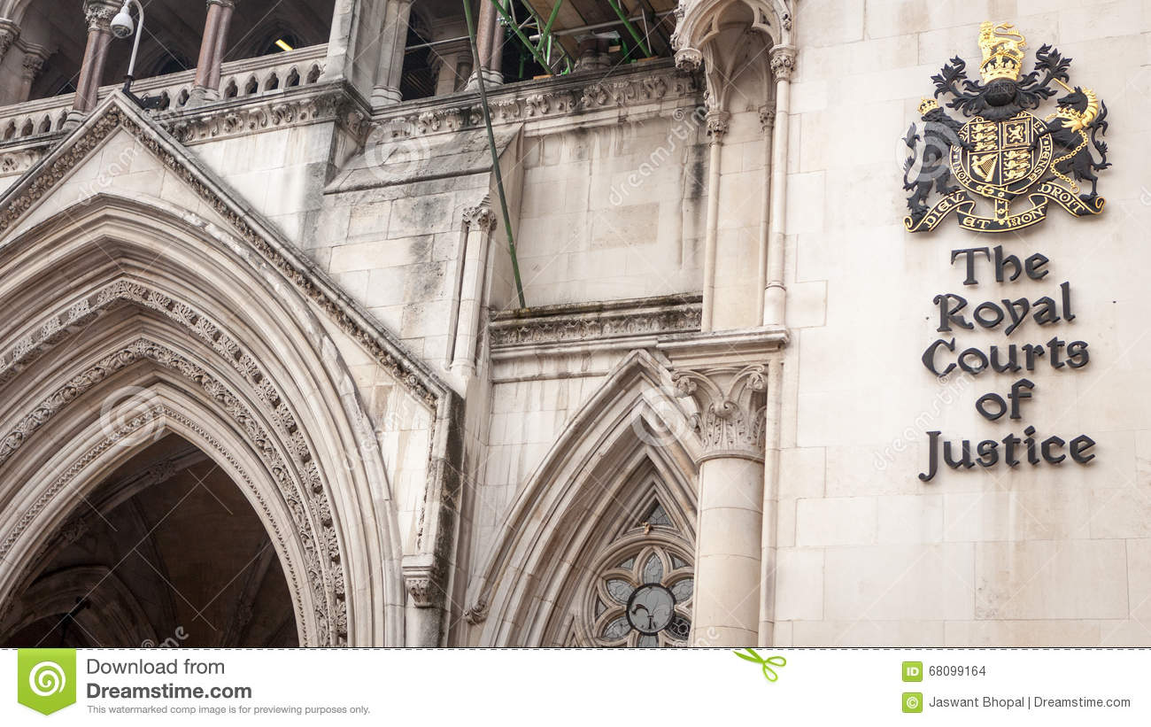 The Royal Courts of Justice, London.