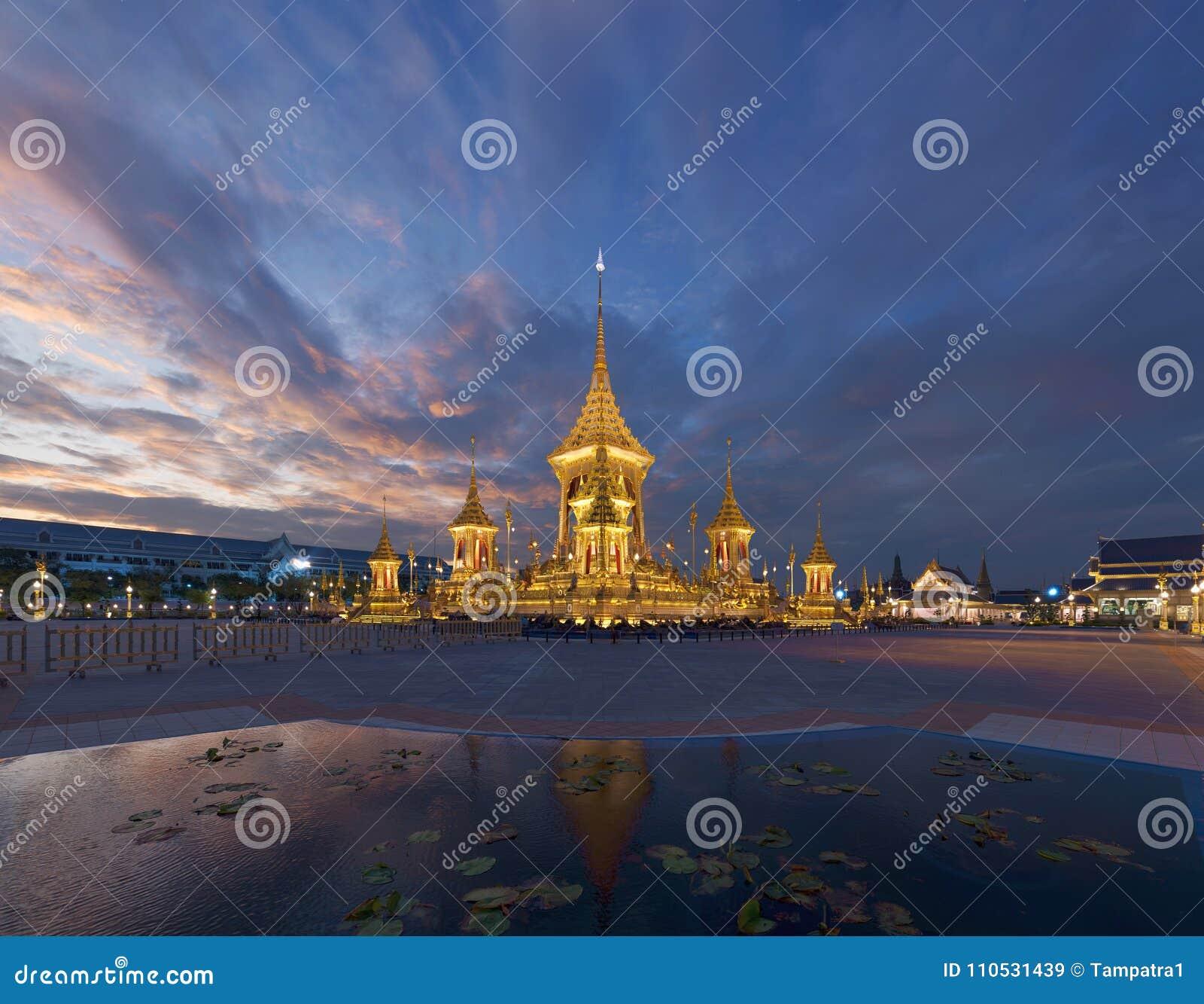 Royal Cremation Exhibition of His Majesty King Bhumibol Adulyadej, Sanam Luang, Bangkok City,Thailand