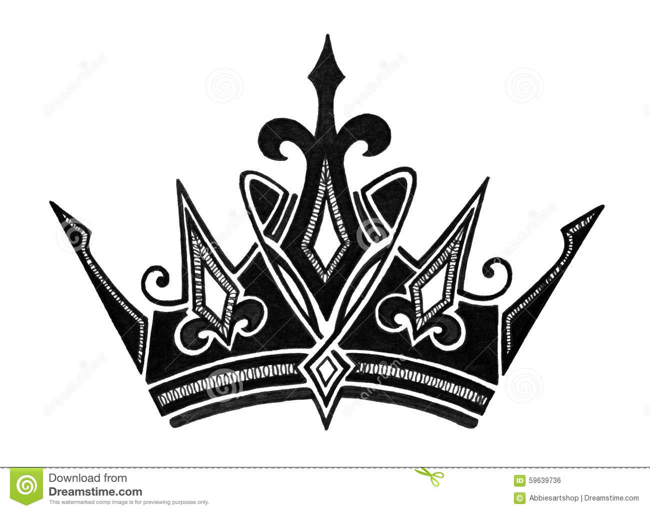 Black Royal Crown Icon...