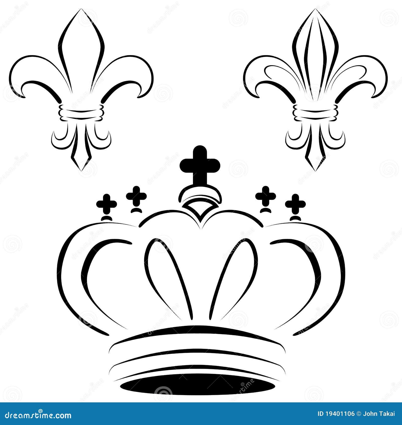 One Line Ascii Art Crown : Royal crown fleur art royalty free stock image