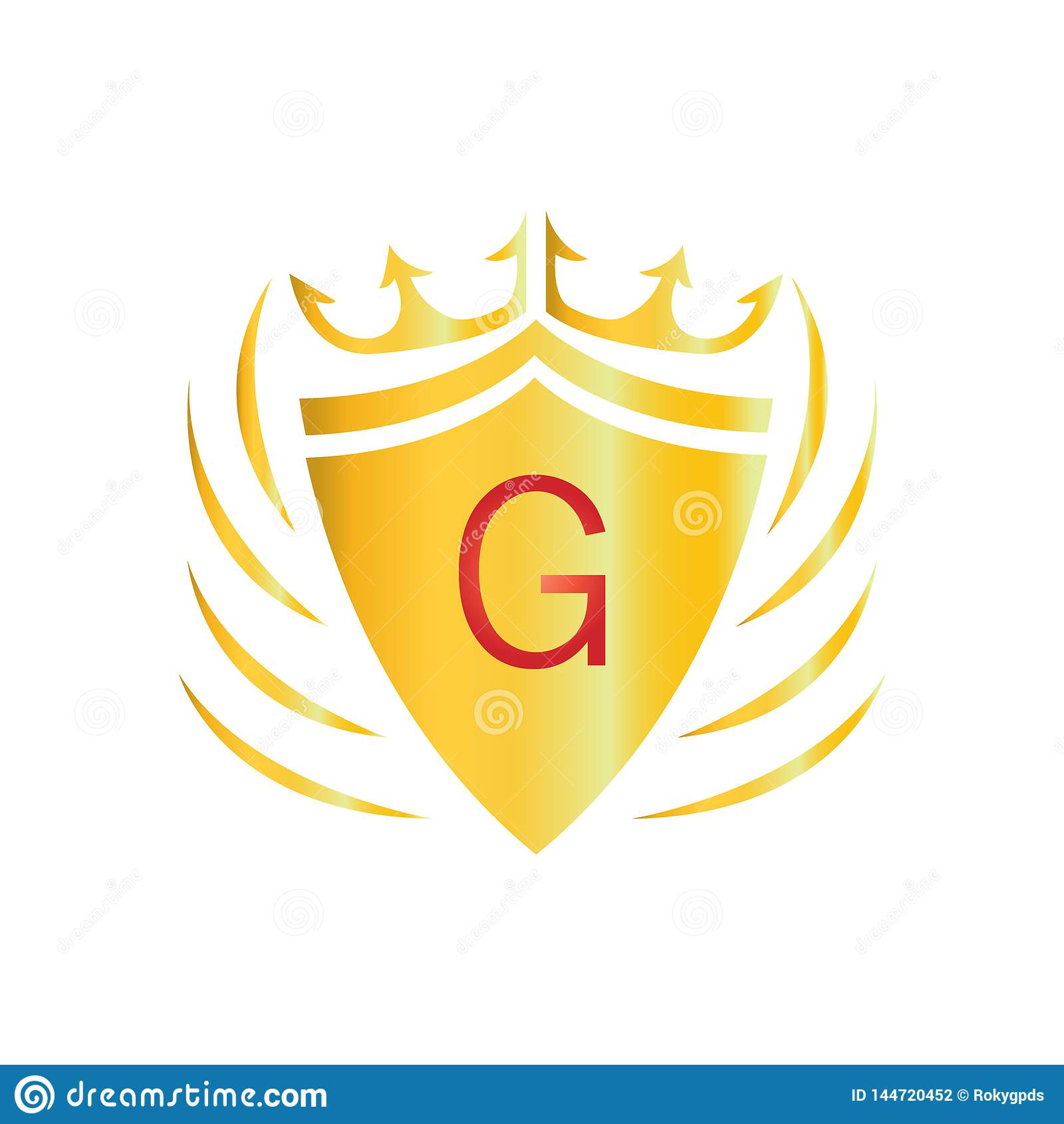 Royal Crown Logo. Letter G logo