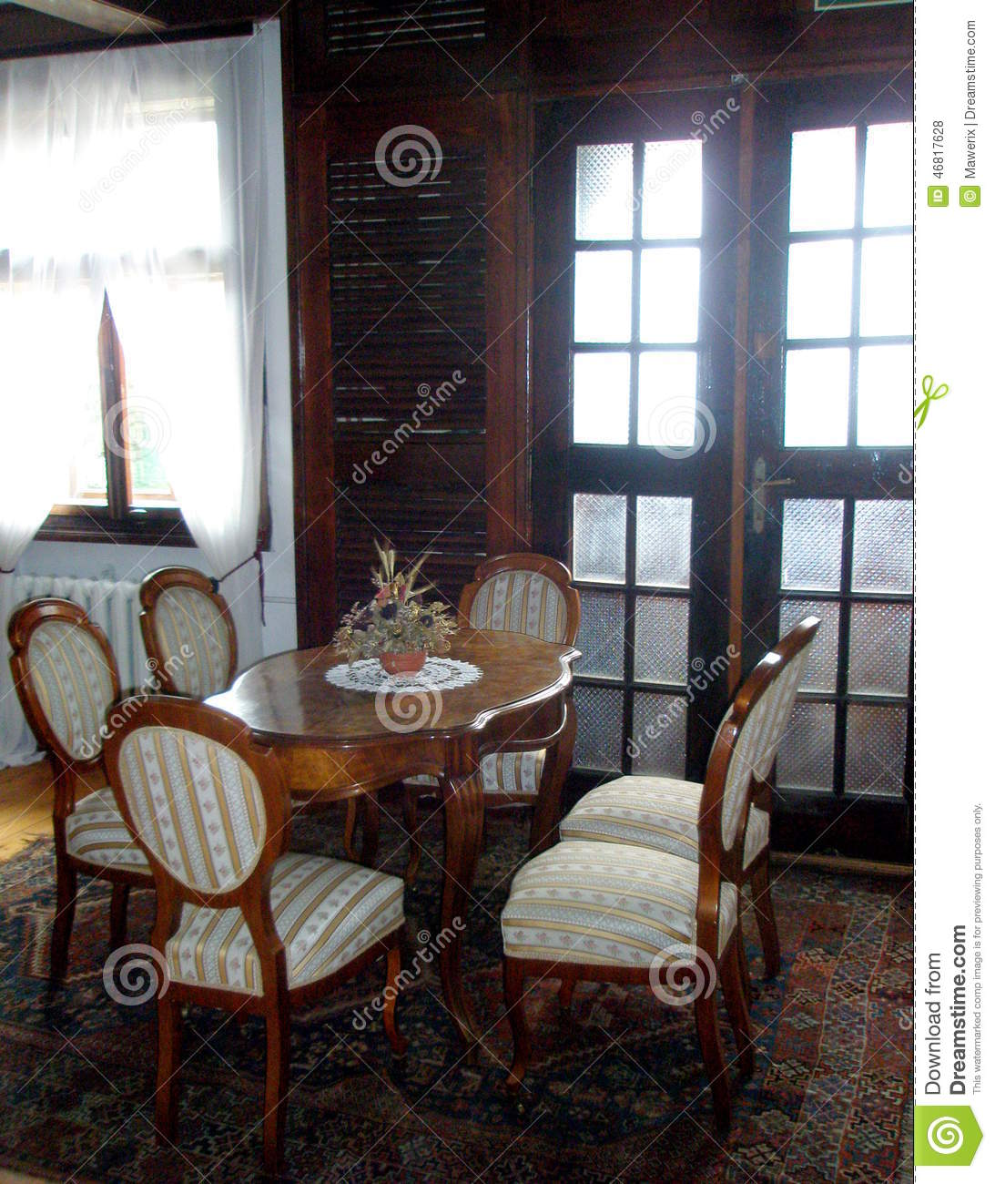 Anime Royal Dining Room: Royal Dining Table Stock Photo