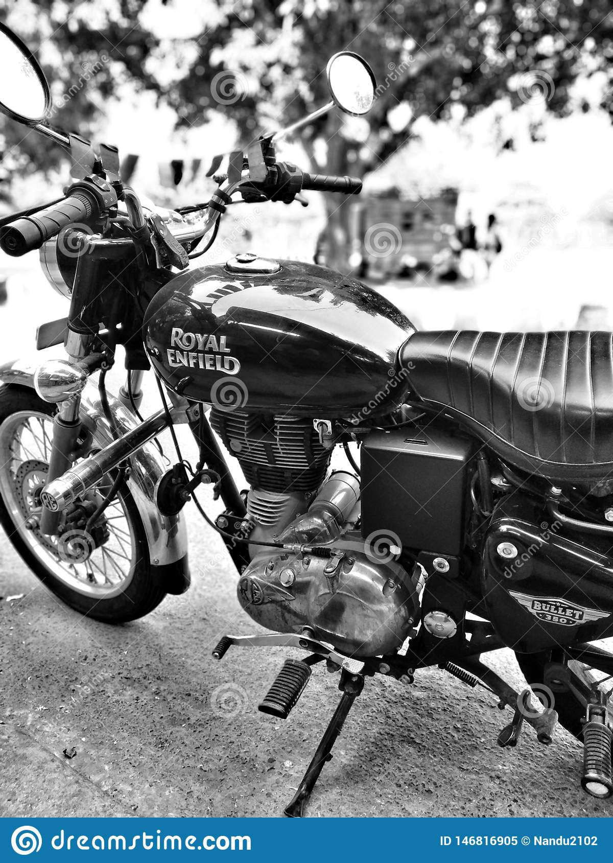 Royal Enfield Bullet 350 Wallpaper Black And White Editorial