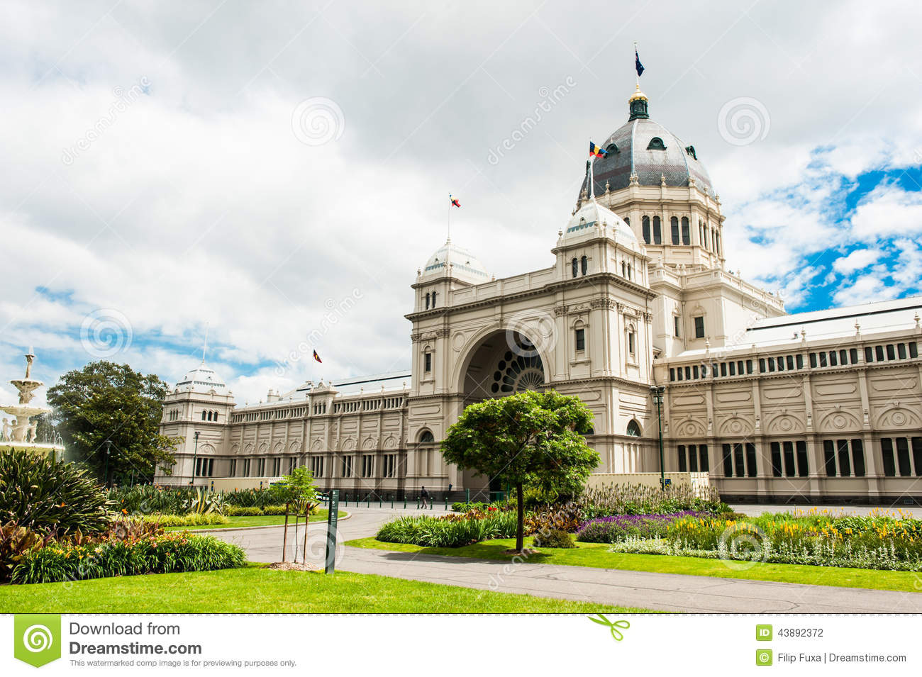 Royal exhibition building stock photo image of - What time does victoria gardens close ...