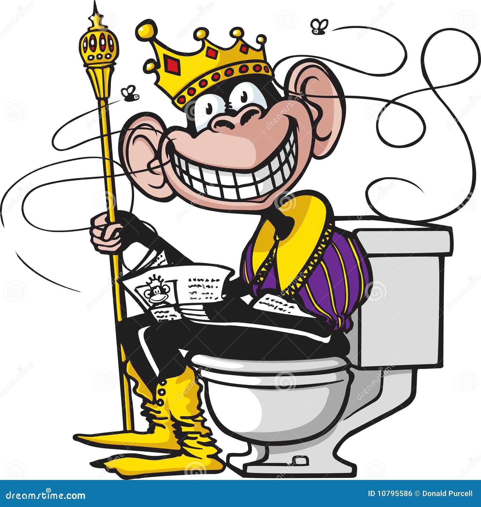 Casino Royale Bathroom Fight: Royal Flush Stock Vector. Image Of Chimpanzee, Commode