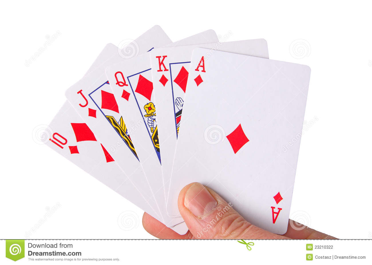 Stock Photography: Royal flush. Image: 23210322