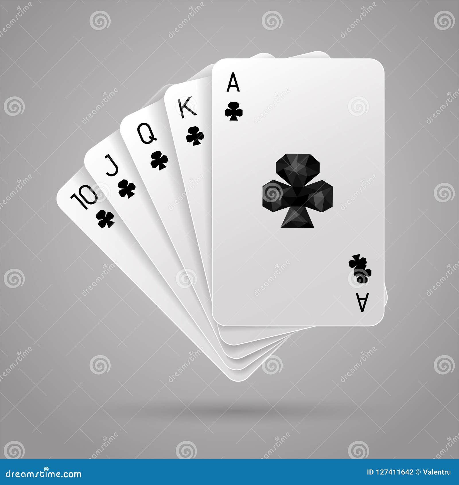 Royal Flush des Vereins Poker-Hand