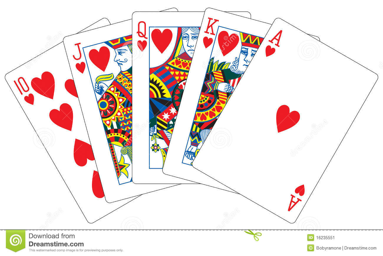 royal flush cards