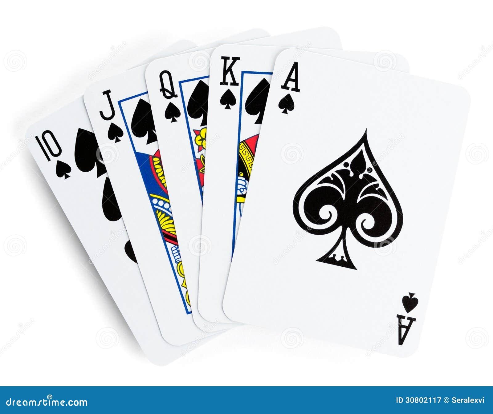 Flush poker hand
