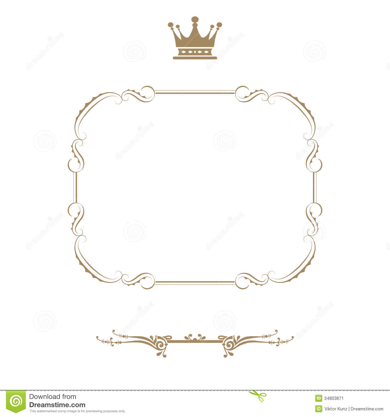 Royal Frame Stock Illustration Illustration Of Abstract