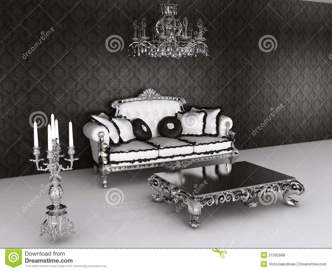 Royal Furniture In Baroque Interior. Sofa Stock Photo 21592998   Megapixl