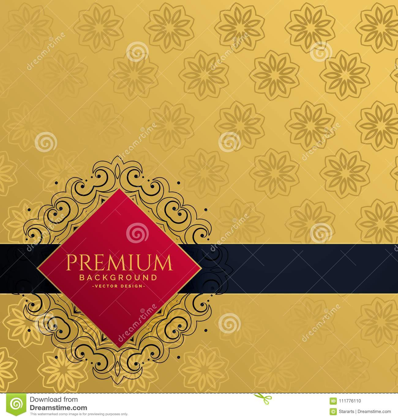 Royal golden luxury invitation background