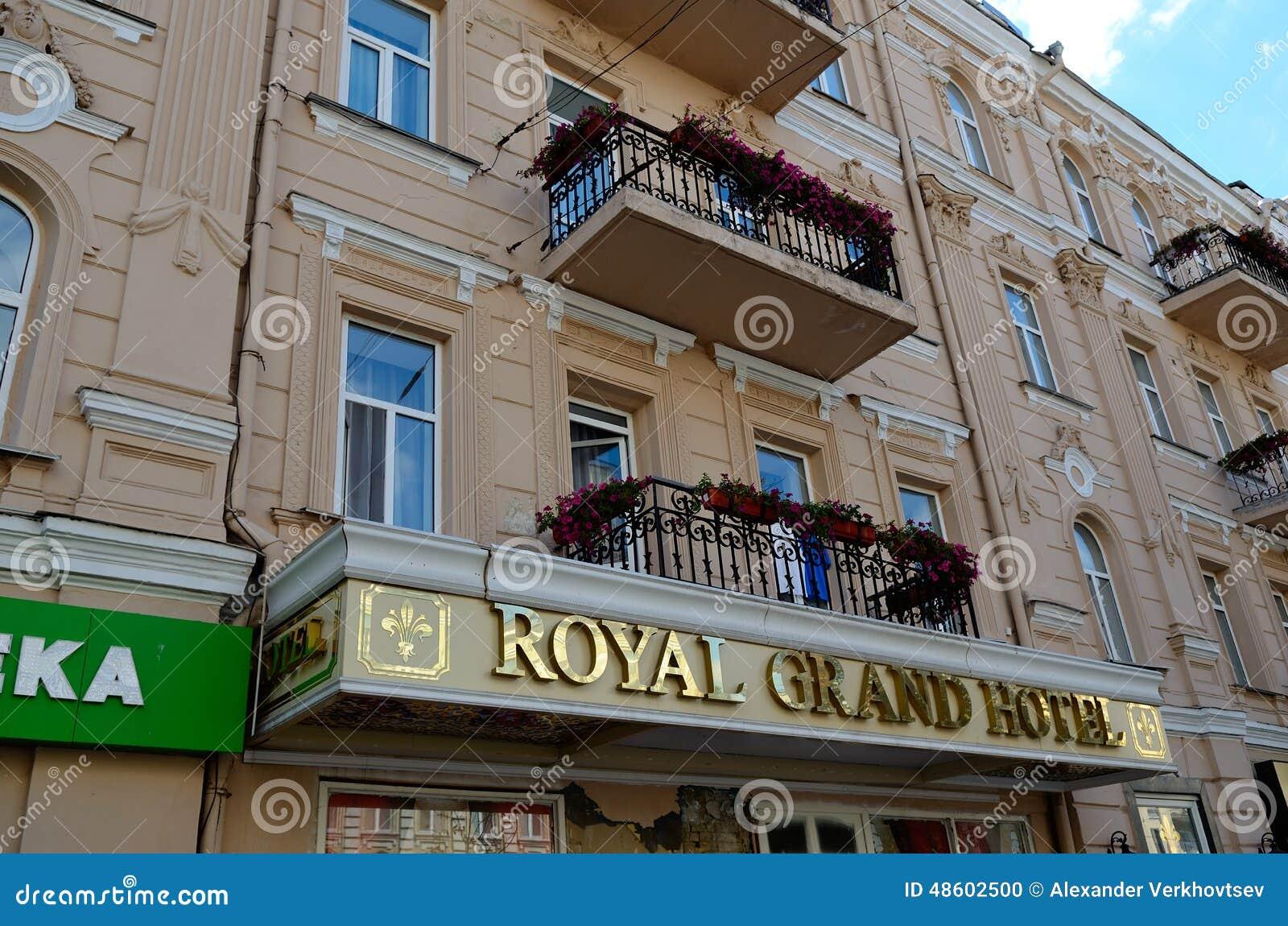 Royal Grand Hotel On Bogdana Khmel Nitskogo Street Kiev Editorial Image Image Of Downtown Historic 48602500